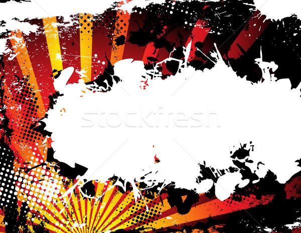 Foto stock: Abstrato · grunge · meio-tom · laranja · vetor · imagem