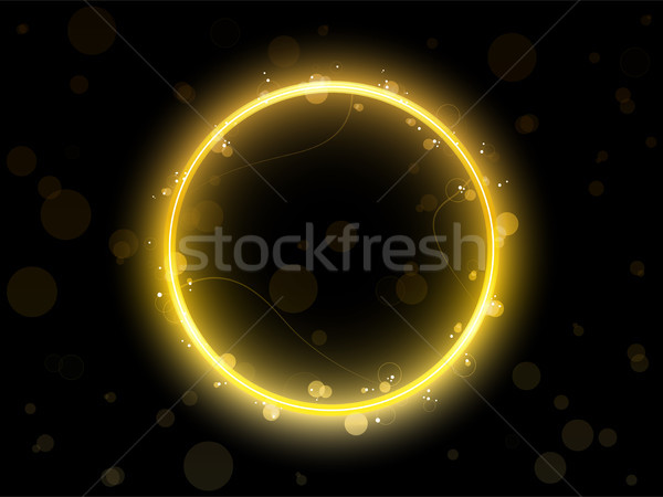 Golden Circle Border with Sparkles and Swirls. Stock photo © gubh83