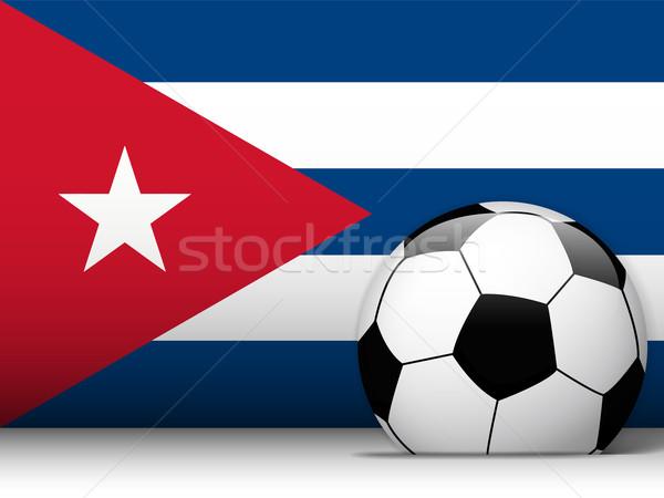 Куба футбольным мячом флаг вектора дизайна Мир Сток-фото © gubh83