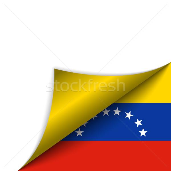 Venezuela land vlag pagina vector teken Stockfoto © gubh83
