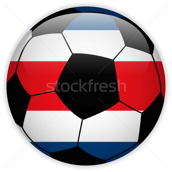 Costa Rica zászló futballabda vektor világ futball Stock fotó © gubh83