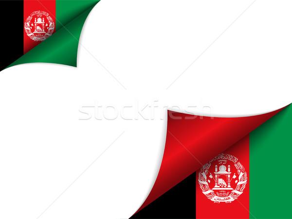 Афганистан стране флаг страница вектора знак Сток-фото © gubh83