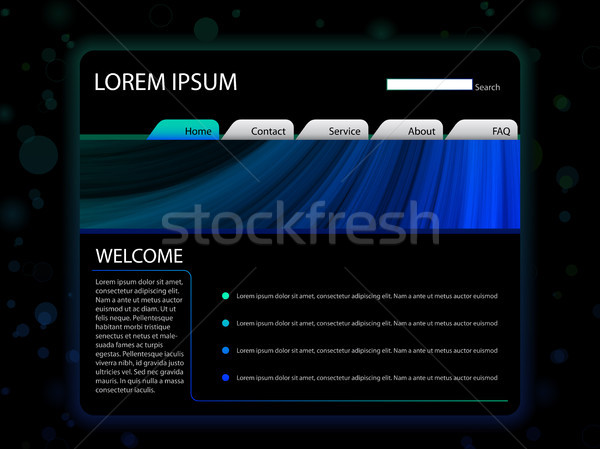 Website Layout Template in Blue Color Stock photo © gubh83