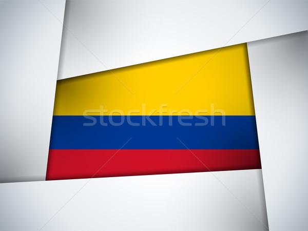 Colombia vidék zászló mértani vektor üzlet Stock fotó © gubh83