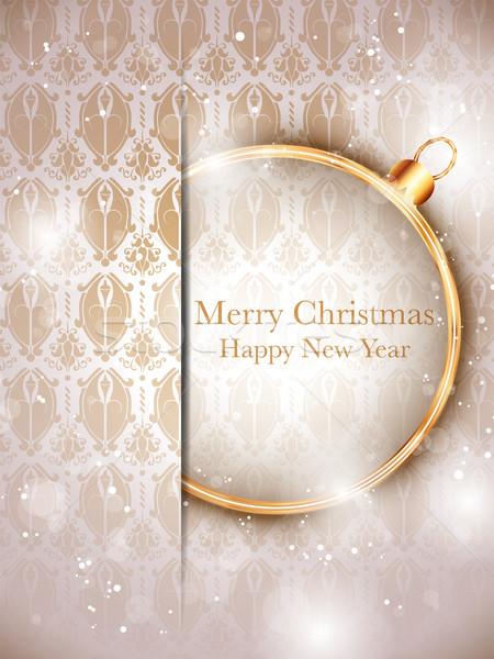 веселый Рождества золото ретро вектора Сток-фото © gubh83