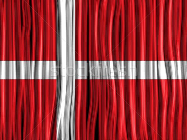 Dánia zászló hullám szövet textúra vektor Stock fotó © gubh83