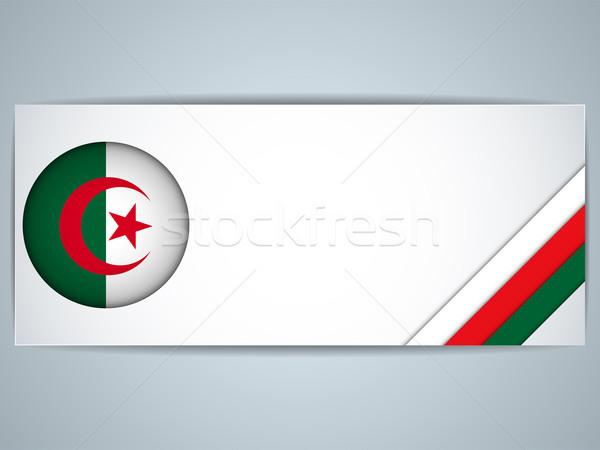 Алжир стране набор Баннеры вектора бизнеса Сток-фото © gubh83