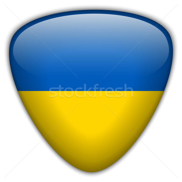 Ukraine Flag Glossy Button Stock photo © gubh83