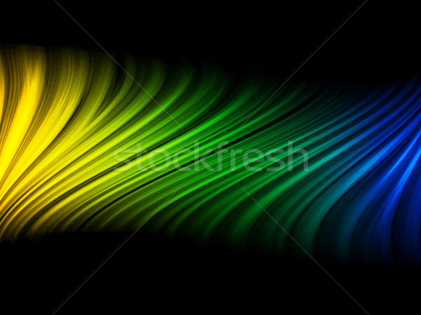 Brazil Flag Wave Yellow Green Blue Background Stock photo © gubh83