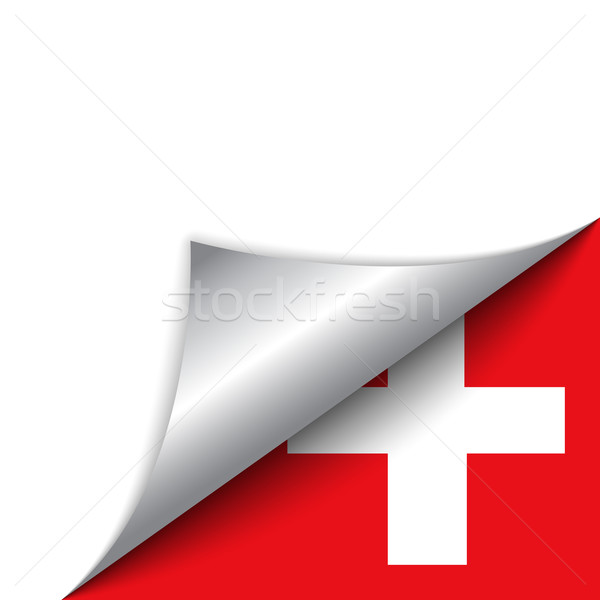İsviçre ülke bayrak sayfa vektör imzalamak Stok fotoğraf © gubh83