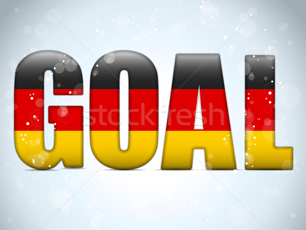 Germany Goal Soccer 2014 Letters with German Flag Stock photo © gubh83