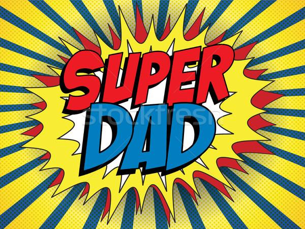 Stok fotoğraf: Mutlu · baba · gün · süper · kahraman · baba · vektör
