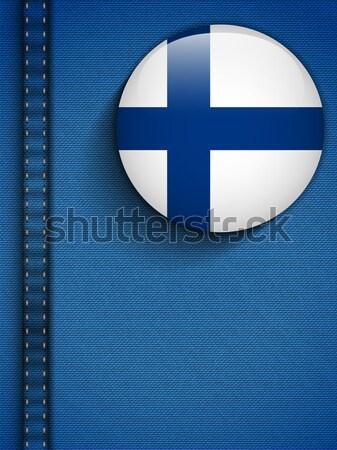 Gay pavillon bouton jeans tissu texture Photo stock © gubh83