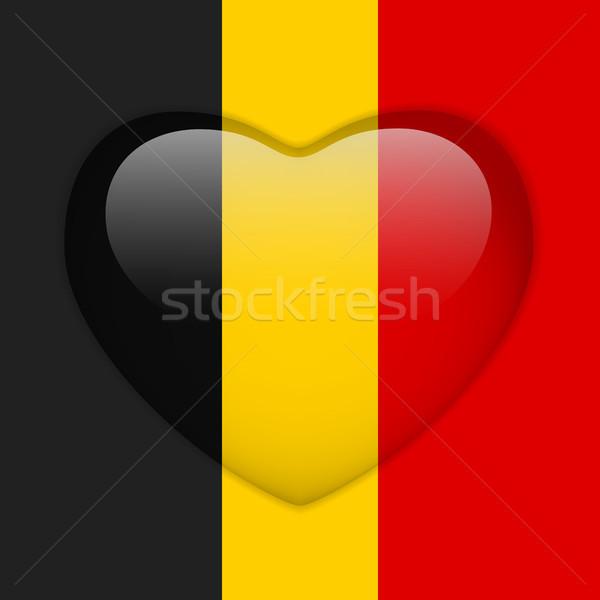 Bélgica bandera corazón botón vector Foto stock © gubh83