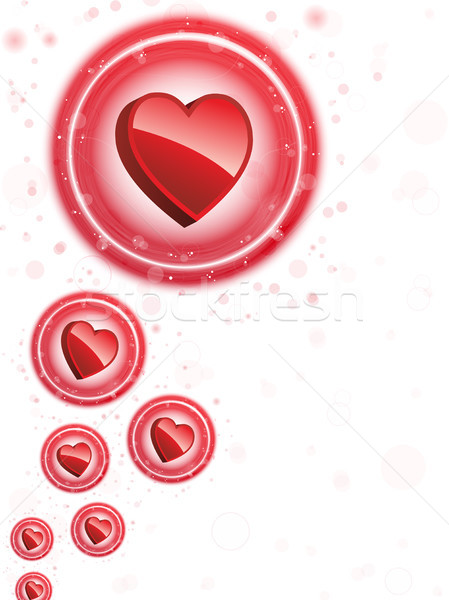 Happy Valentine's Day Neon Heart Bubbles Background Stock photo © gubh83