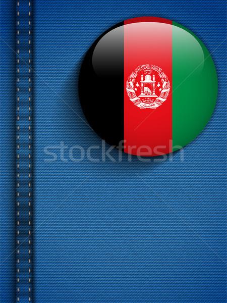 Afeganistão bandeira botão jeans bolso vetor Foto stock © gubh83