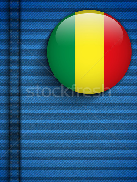 Mali Flag Button in Jeans Pocket Stock photo © gubh83
