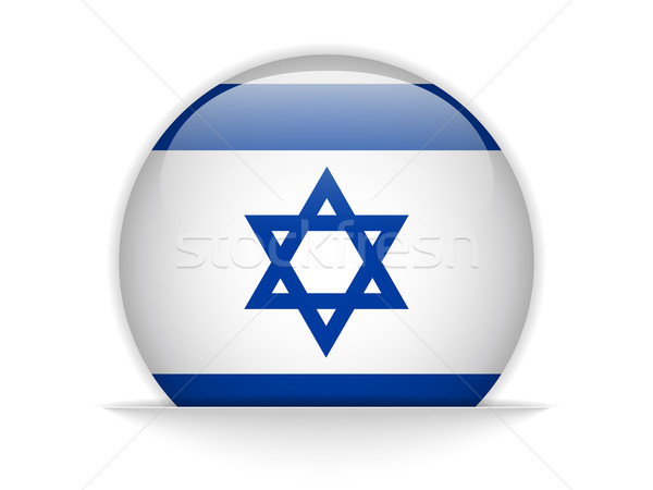 Israel Flag Glossy Button Stock photo © gubh83