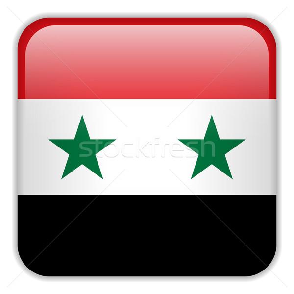 Syria banderą smartphone aplikacja placu przyciski Zdjęcia stock © gubh83