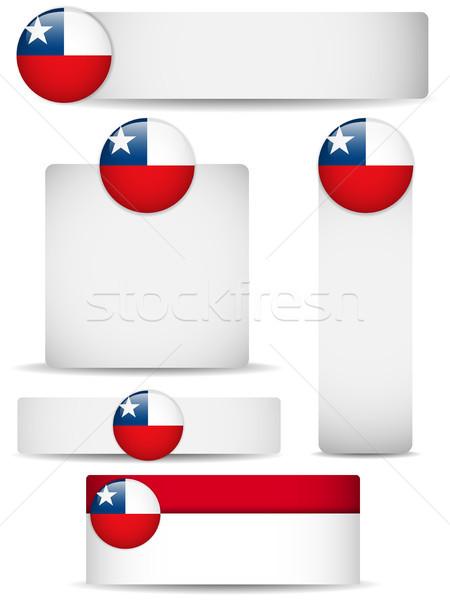 Chile vidék szett bannerek vektor üzlet Stock fotó © gubh83