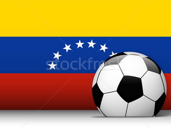 Venezuela voetbal vlag vector ontwerp wereld Stockfoto © gubh83