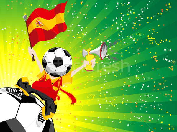 Spanje voetbal winnaar wereld menigte Stockfoto © gubh83