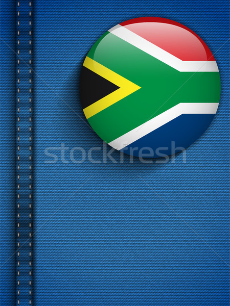 South Africa Flag Button in Jeans Pocket Stock photo © gubh83