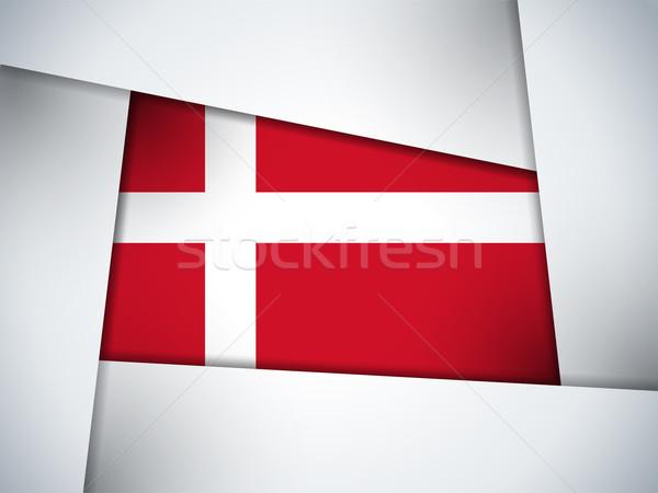 Dinamarca país bandeira geométrico vetor negócio Foto stock © gubh83