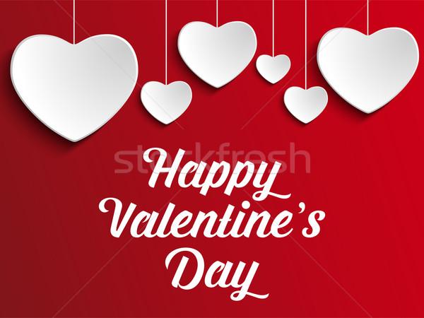 Walentynki dzień serca czerwony wektora ślub Zdjęcia stock © gubh83