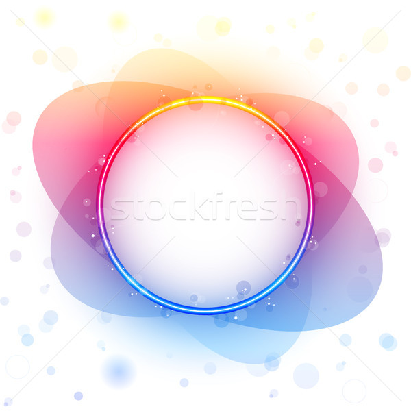 Rainbow Circle Border Transparency Effect. Stock photo © gubh83