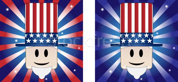 Nagybácsi csillagok csík amerikai zászló színek férfi Stock fotó © gubh83