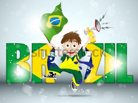 Brazília labdarúgó egyenruha vektor futball világ Stock fotó © gubh83