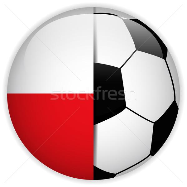 Polska banderą piłka wektora świat piłka nożna Zdjęcia stock © gubh83