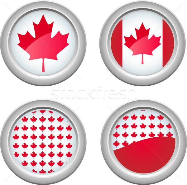 Канада Кнопки мира лист знак Сток-фото © gubh83
