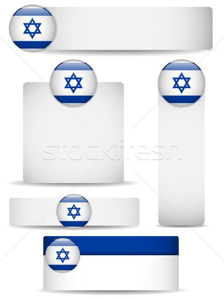 Israël pays bannières vecteur affaires Photo stock © gubh83