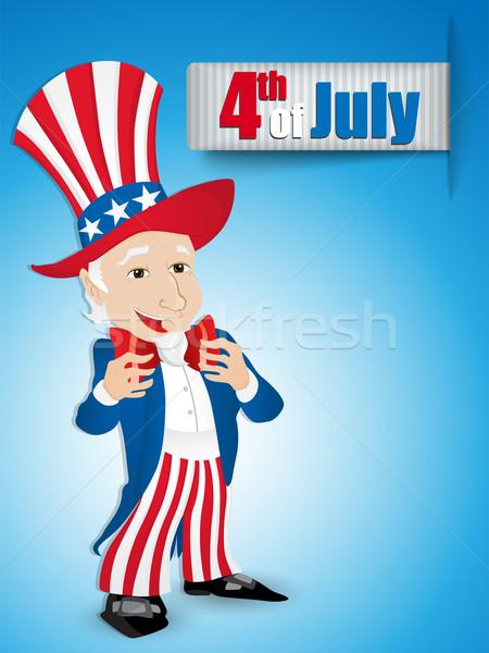 Egyesült Államok nap nagybácsi vektor felirat kék Stock fotó © gubh83