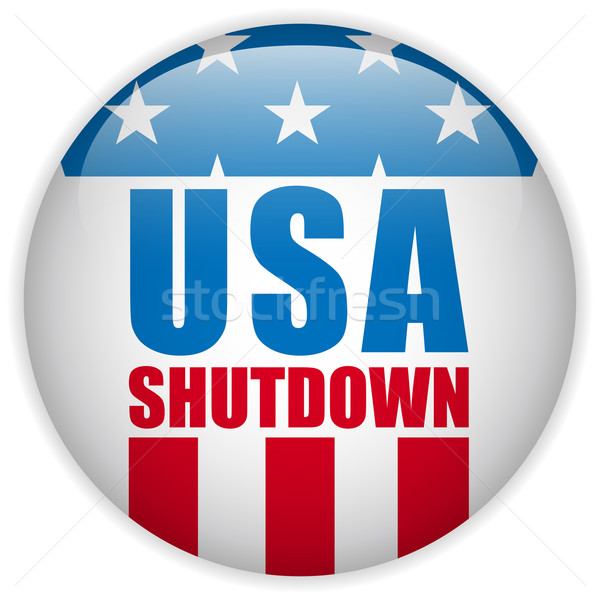 United States Shutdown Government Button Stock photo © gubh83