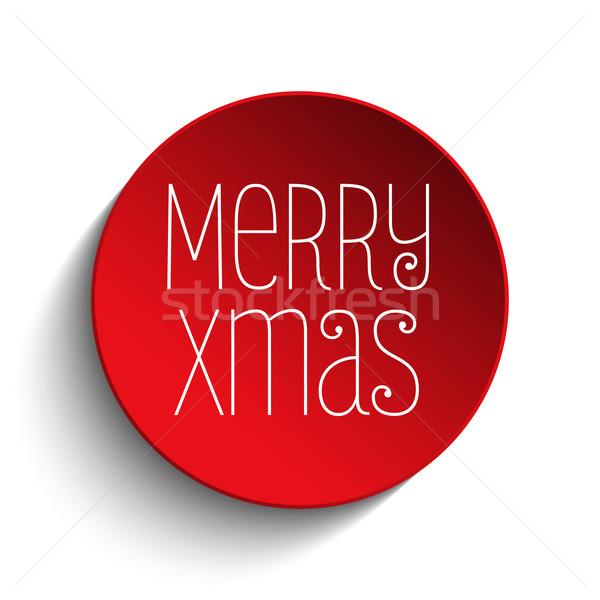 Joyeux Noël icône bouton rouge vecteur Photo stock © gubh83