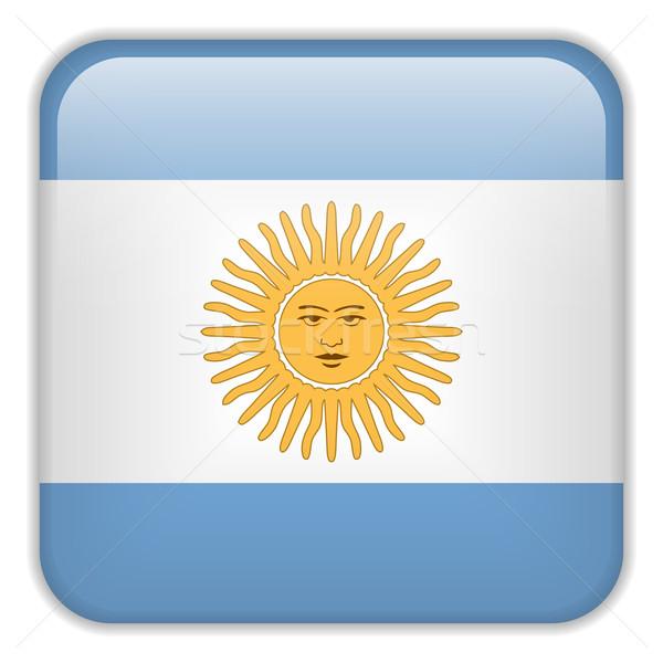 Аргентина флаг смартфон применение квадратный Кнопки Сток-фото © gubh83