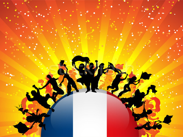 France Sport Fan Crowd with Flag Stock photo © gubh83