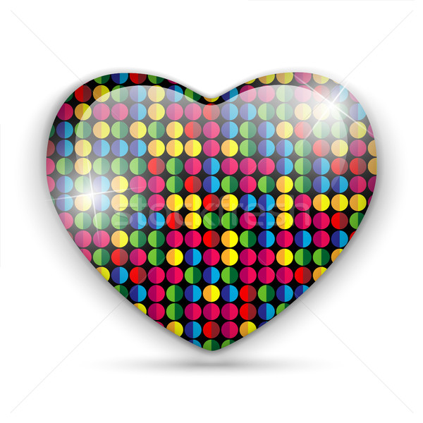 Stock fotó: üveg · szív · szín · textúra · vektor · boldog