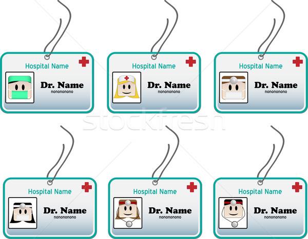 Orvosi személyi igazolvány kártya személyi igazolvány orvosok nővérek Stock fotó © gubh83
