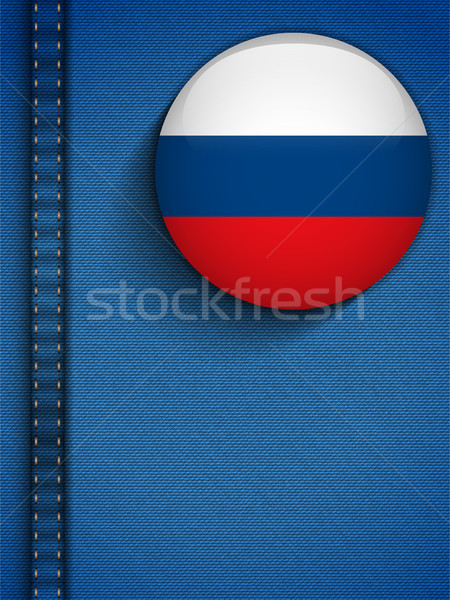 Rusia bandera botón jeans bolsillo vector Foto stock © gubh83