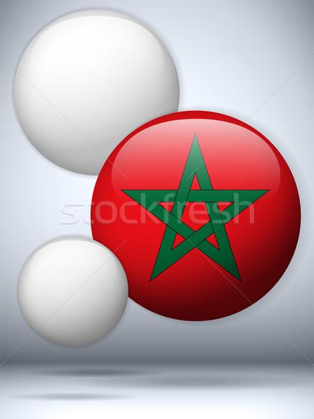 Maroc pavillon bouton vecteur amour Photo stock © gubh83
