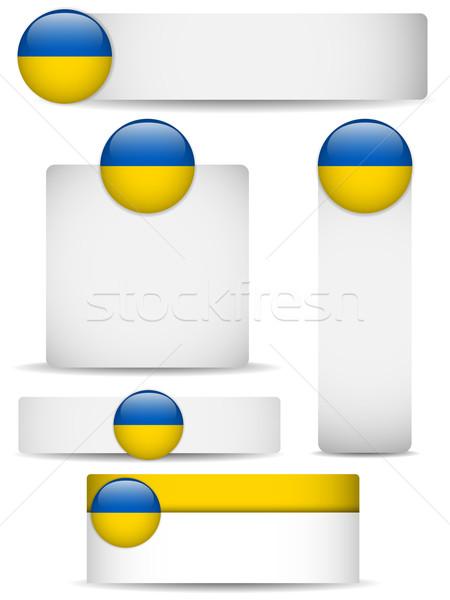Ukraine Country Set of Banners Stock photo © gubh83