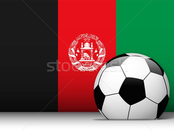 Afeganistão futebol bandeira vetor projeto mundo Foto stock © gubh83