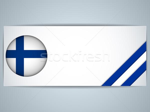 Финляндия стране набор Баннеры вектора бизнеса Сток-фото © gubh83