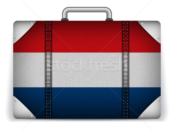 Holanda viajar bagagem bandeira férias vetor Foto stock © gubh83