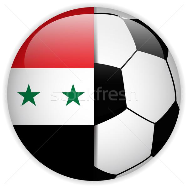Syrië vlag voetbal vector wereld voetbal Stockfoto © gubh83