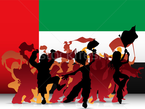 Emirates Sport Fan Crowd with Flag Stock photo © gubh83